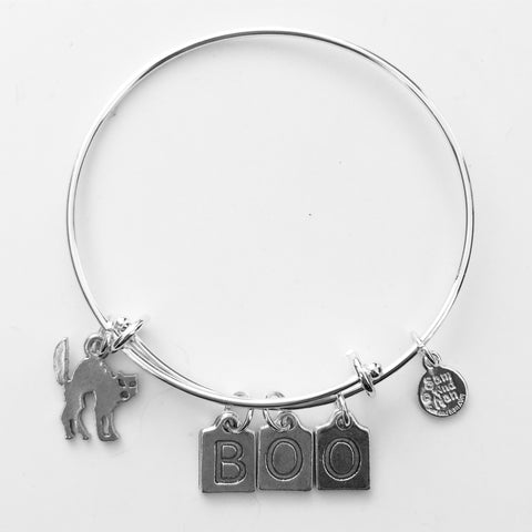 Cat - BOO Bangle Bracelet - SamandNan