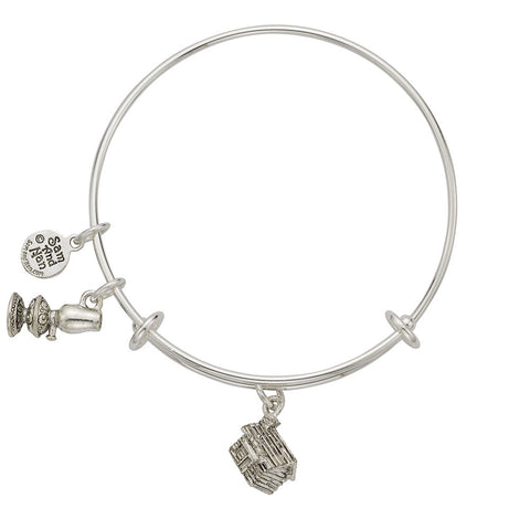 Cabin Oil Lamp Charm Bangle Bracelet - SamandNan