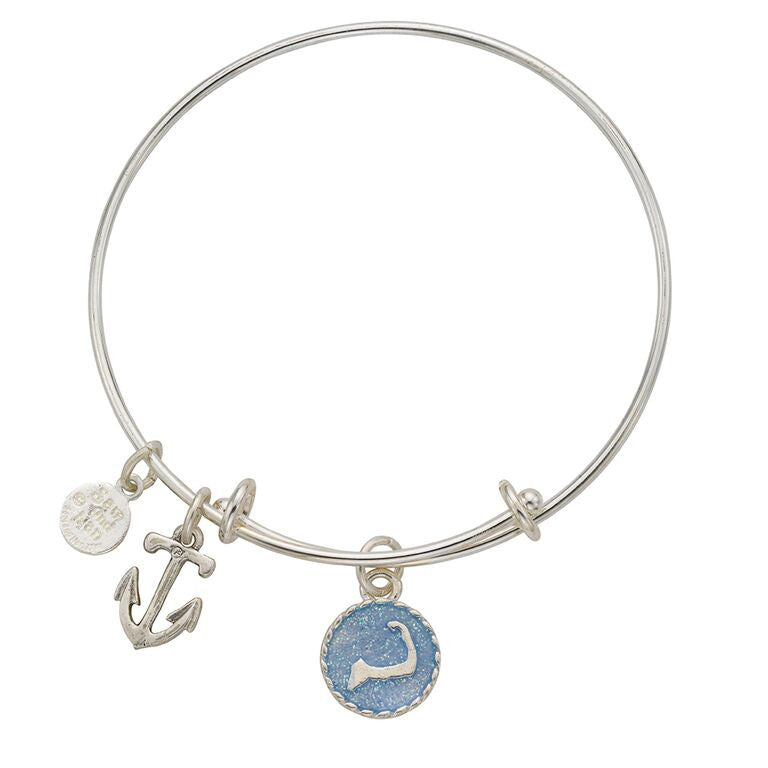 Cape Cod Anchor Bangle Bracelet - SamandNan