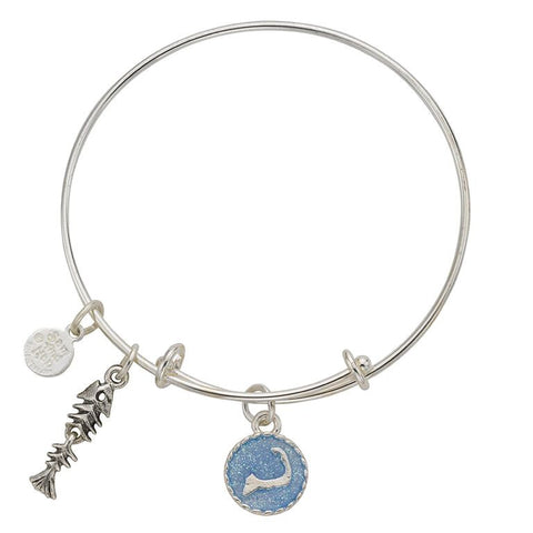 Cape Cod Fish Skeleton Bangle Bracelet - SamandNan