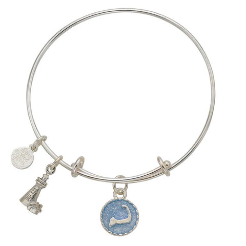 Cape Cod Lighthouse Bangle Bracelet - SamandNan