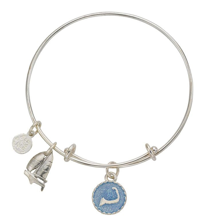 Cape Cod Sailboat Bangle Bracelet - SamandNan