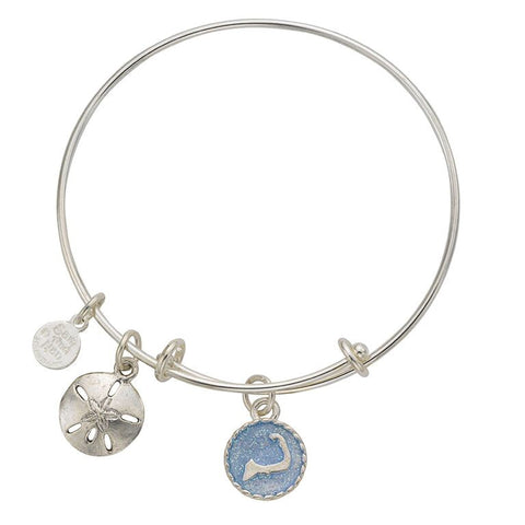 Cape Cod Sand Dollar Bangle Bracelet - SamandNan