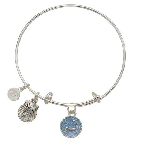 Cape Cod Scallop Shell Bangle Bracelet - SamandNan