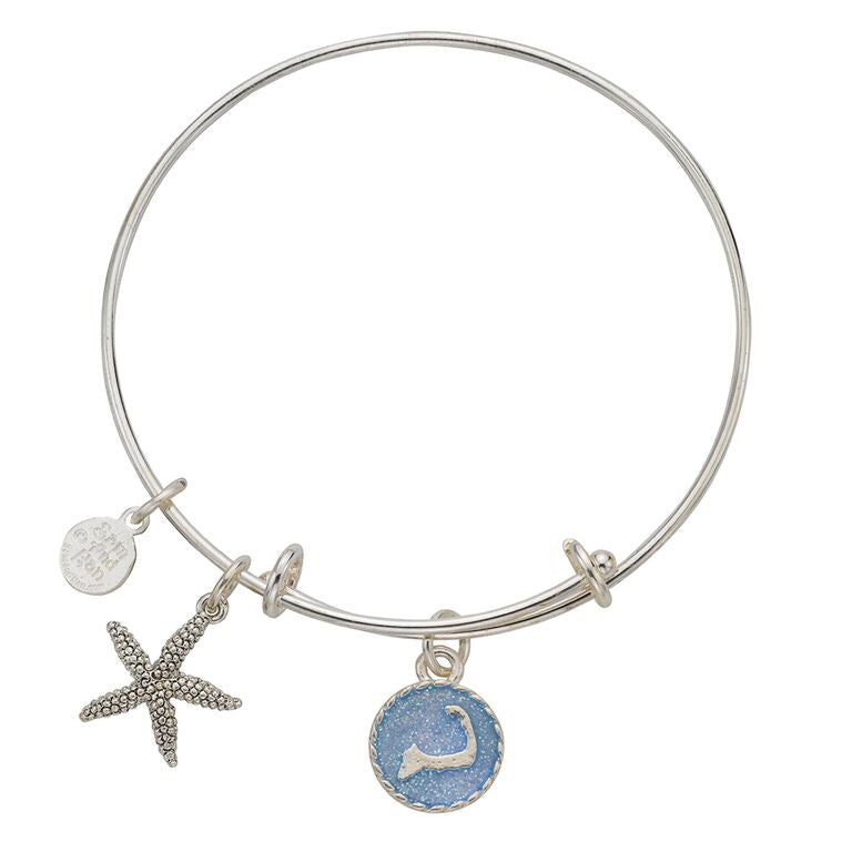 Cape Cod Starfish Bangle Bracelet - SamandNan