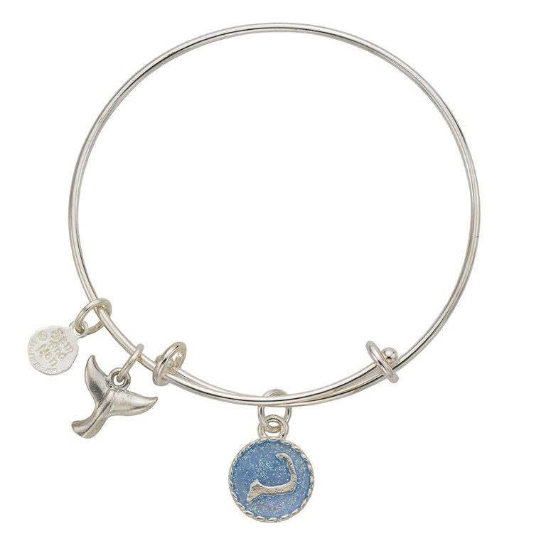Cape Cod Whale Tail Bangle Bracelet - SamandNan