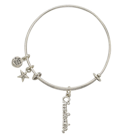 Cheerleader Star Charm Bangle Bracelet - SamandNan - 1