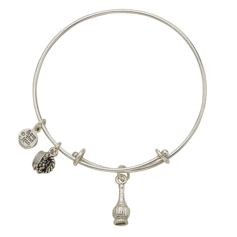 Chianti Bottle Charm Bangle Bracelet - SamandNan