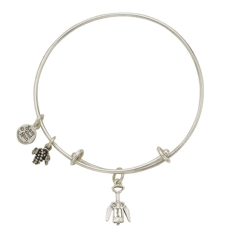Corkscrew Charm Bangle Bracelet - SamandNan