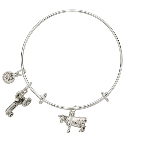 Cow Charm Bangle Bracelet - SamandNan