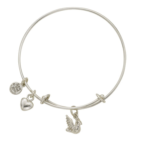 Dove Charm Bangle Bracelet - SamandNan