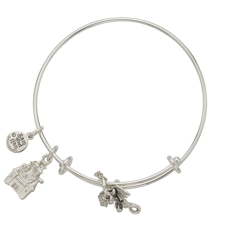 Dragon Charm Bangle Bracelet - SamandNan