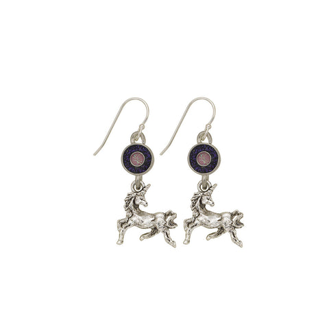 Purple Unicorn Earrings - SamandNan