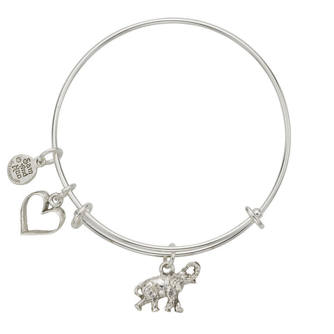 Elephant Heart Bangle Bracelet - SamandNan