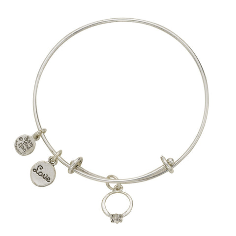 Engagement Ring Love Bangle Bracelet - SamandNan