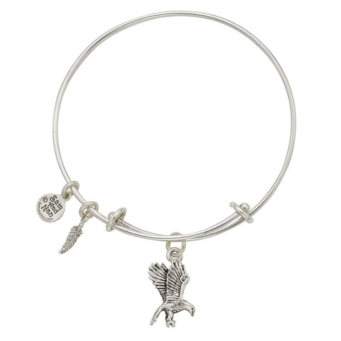 Flying Eagle Charm Bangle Bracelet - SamandNan