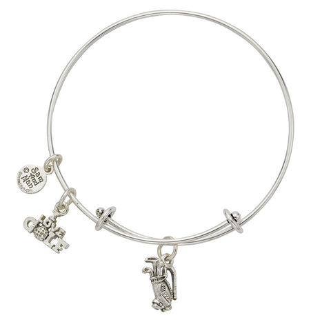 Golf Bag Charm Bangle Bracelet - SamandNan
