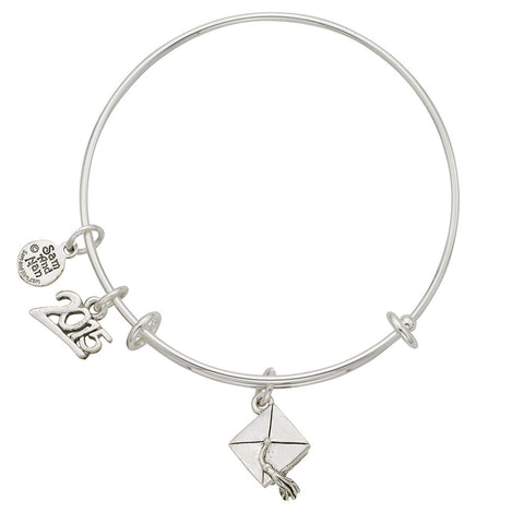 Graduation Cap 2015 Charm Bangle Bracelet - SamandNan