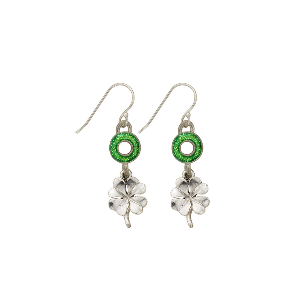 Green Four Leaf Clover Earrings - SamandNan