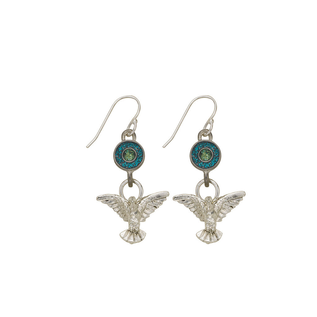 Green Hummingbird Earrings - SamandNan