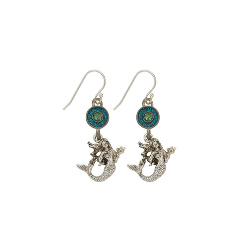Green Mermaid Earrings - SamandNan