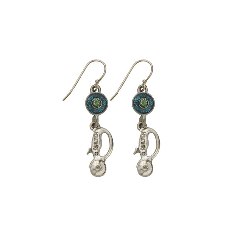 Green Quilt Cutter Earrings - SamandNan