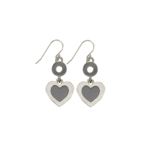 Heart Grey Earrings - SamandNan