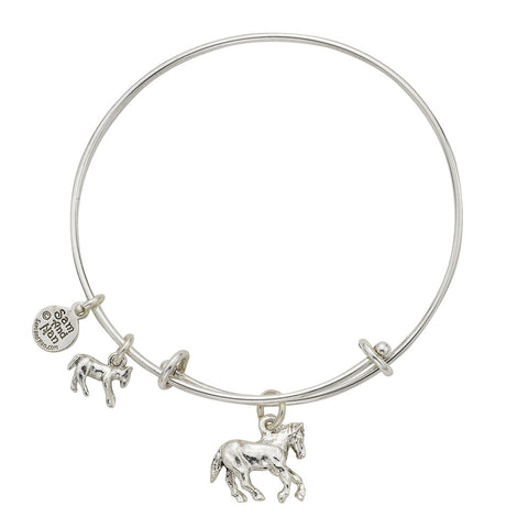 Horse and Pony Charm Bangle Bracelet - SamandNan