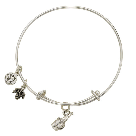 Ice Bucket & Wine Charm Bangle Bracelet - SamandNan - 1
