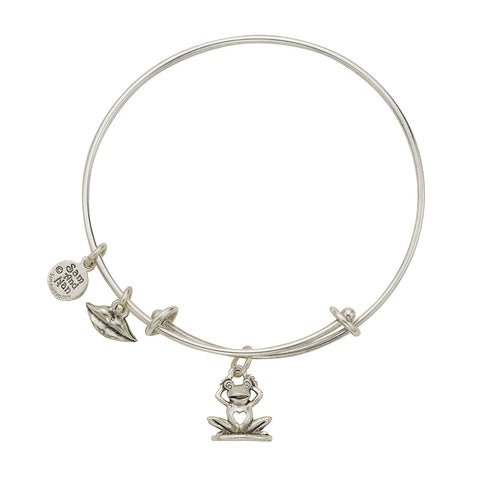 I love You Frog Charm Bangle Bracelet - SamandNan - 1