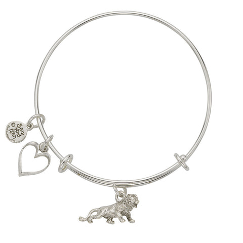 Lion Charm Bangle Bracelet - SamandNan