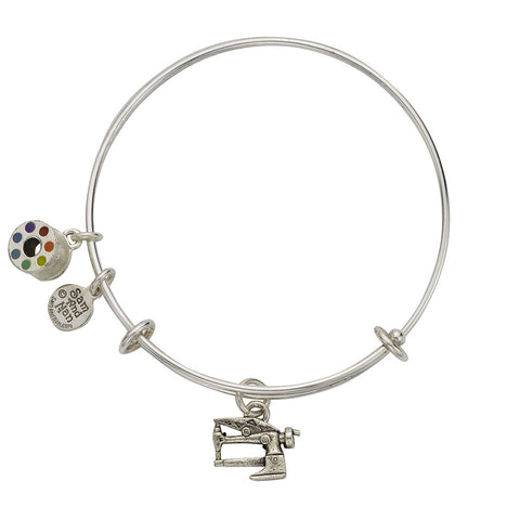Long Arm Sewing Machine Bobbin Bangle Bracelet - SamandNan - 1