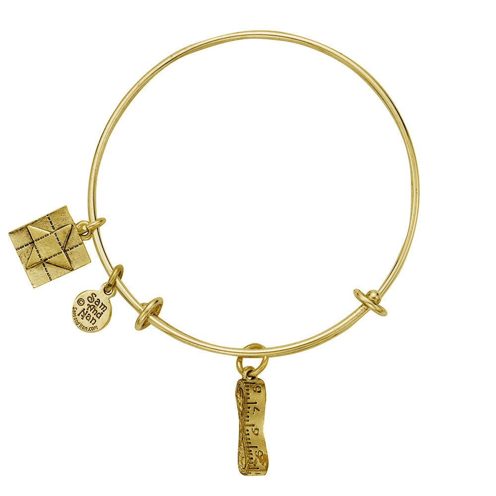 Measuring Tape Friendship Star Bangle Bracelet - SamandNan - 2