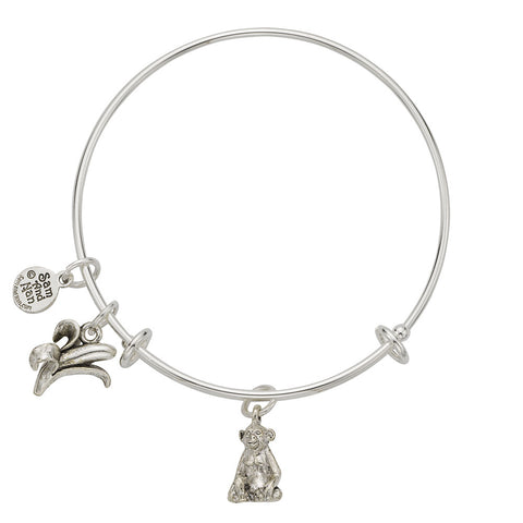 Monkey - Banana Charm Bangle Bracelet - SamandNan