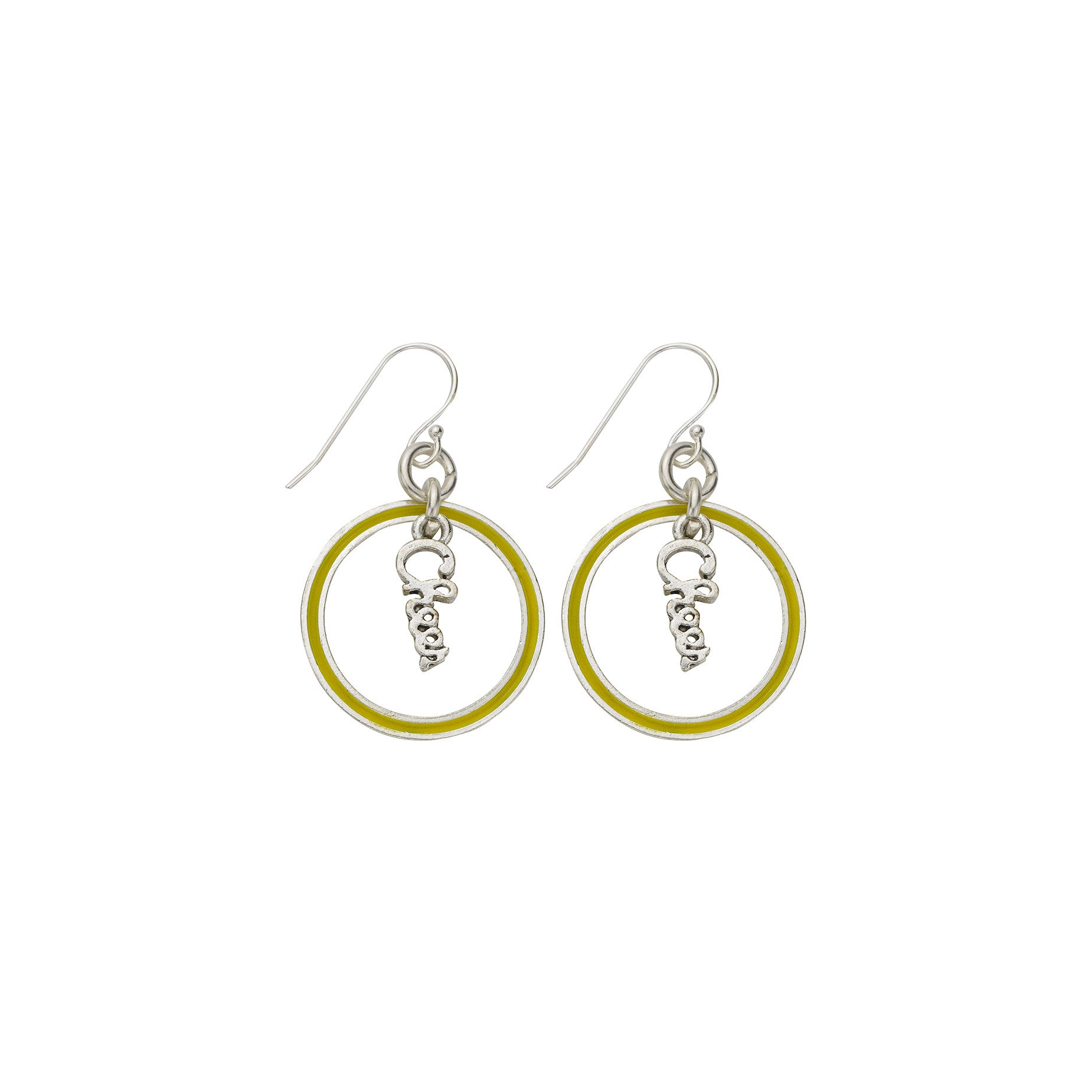 Neon Yellow Cheer Hoop Earring - SamandNan