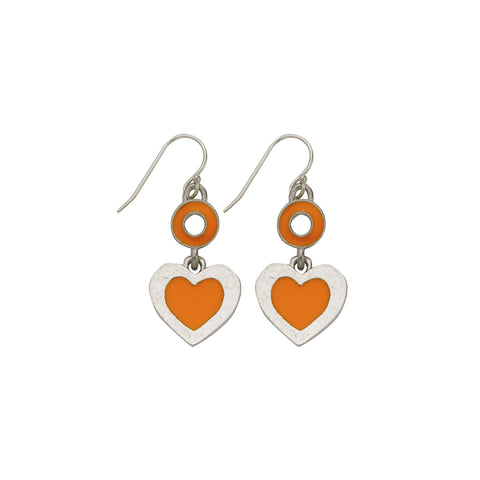 Heart Orange Earrings - SamandNan