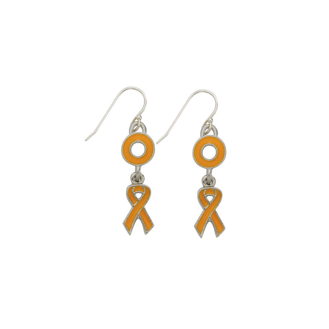 Leukemia Cancer Earrings Orange - SamandNan
