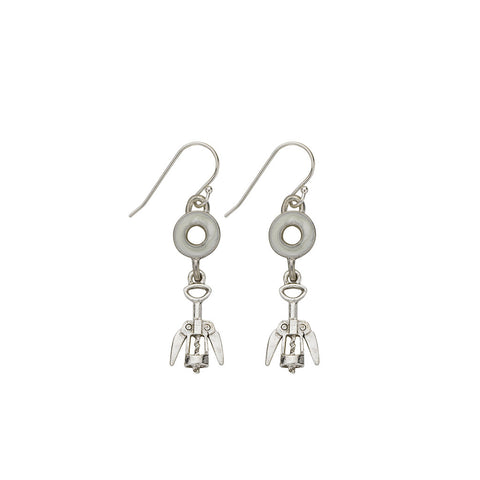 Pearl Corkscrew Earrings - SamandNan