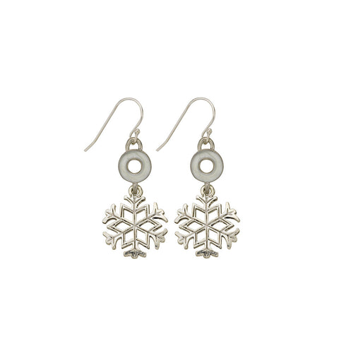 Pearl Snowflake Earrings - SamandNan