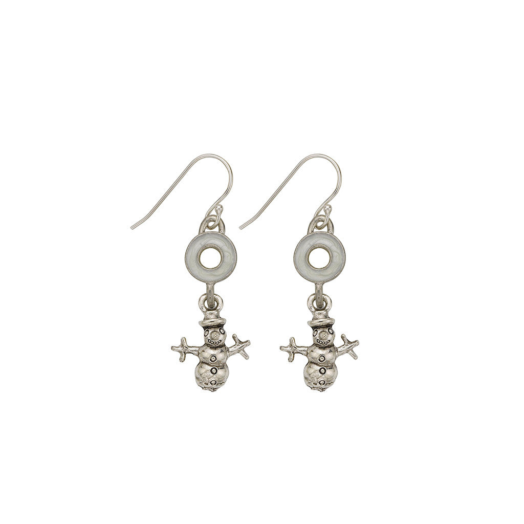 Pearl Snowman Earrings - SamandNan