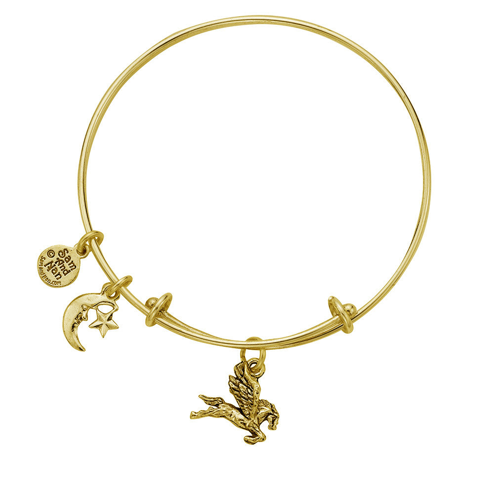 Pegasus Sun and Moon Charm Bangle Bracelet - SamandNan - 2