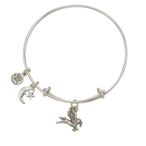 Pegasus Sun and Moon Charm Bangle Bracelet - SamandNan - 1