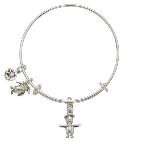 Penguin Charm Bangle Bracelet - SamandNan