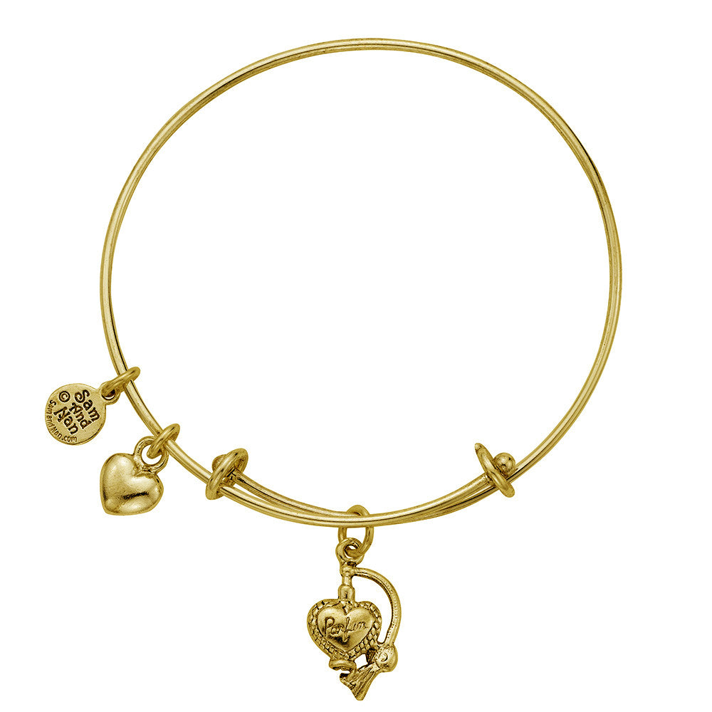 Perfume Bottle Charm Bangle Bracelet - SamandNan - 2