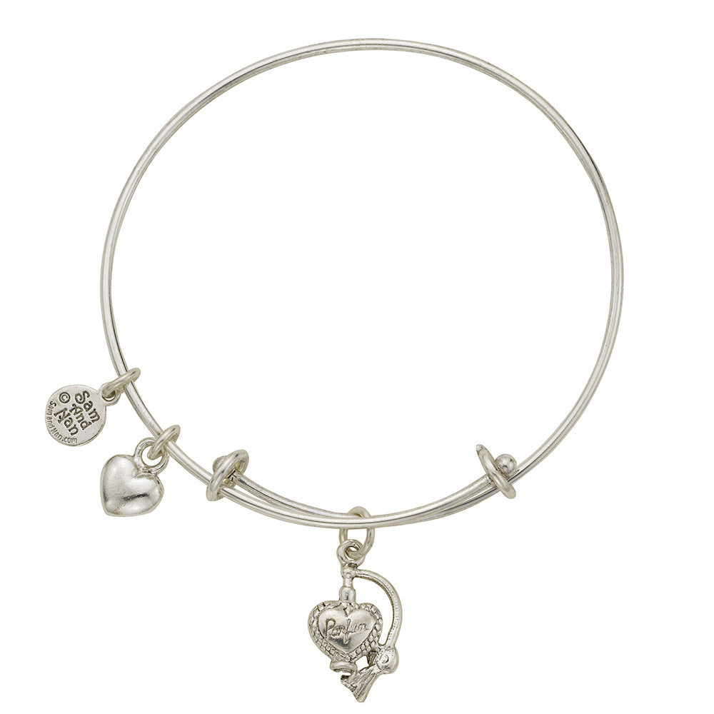 Perfume Bottle Charm Bangle Bracelet - SamandNan - 1