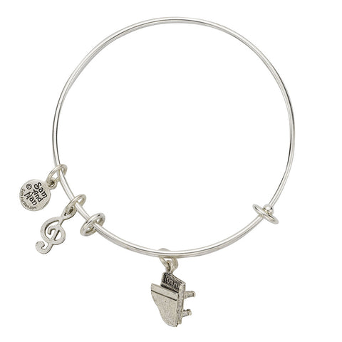 Piano Charm Bangle Bracelet - SamandNan - 1