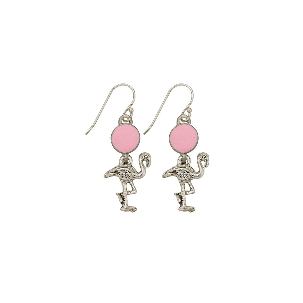 Pink Flamingo Earrings - SamandNan