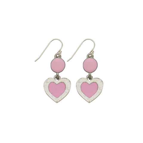 Heart Pink Earrings - SamandNan