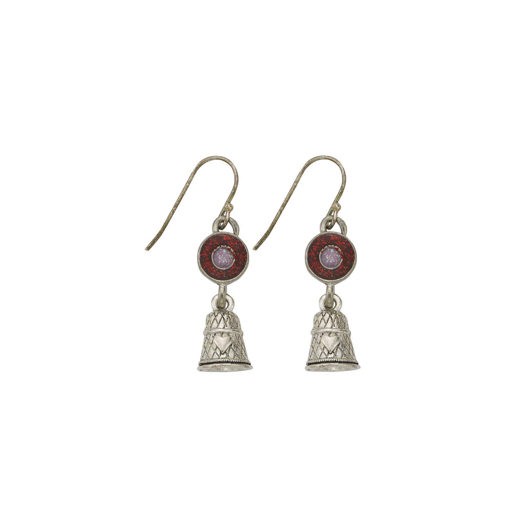 Pink Thimble Earrings - SamandNan