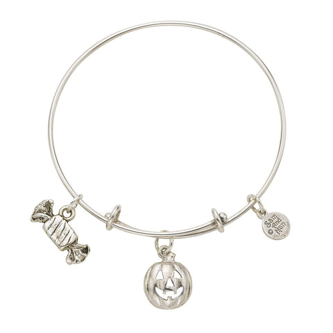Pumpkin Candy Expandable Charm Bangle Bracelet - SamandNan
